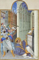 The martyrdom of Saint Mark. Très Riches Heures du duc de Berry (Musée Condé, Chantilly), c. 1412 and 1416.