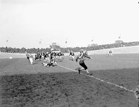 A game between the 4th Canadian Armoured Division Atoms and First Canadian Army Red and Blue Bombers, in Utrecht, Netherlands, October 1945