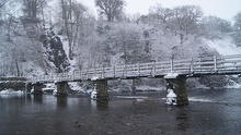 Footbridge over the River Wharfe at Bolton Abbey (22nd March 2013) 003.JPG