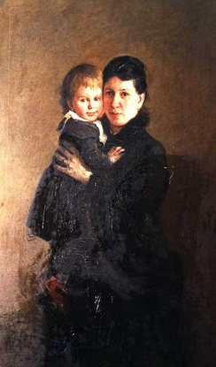 Tolstoy's wife Sophia and their daughter Alexandra
