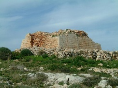 Ruins of the Għajn Ħadid Tower, which collapsed in an earthquake in 1856