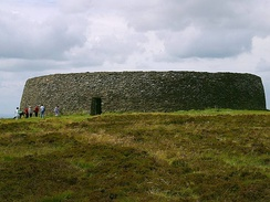 Exterior view of the Ringfort Grianan of Aileach situated in County Donegal