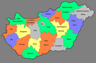 NUTS 3 regions of Hungary