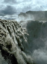The Dettifoss waterfall in Iceland was used in the film's opening scene showing an Engineer creating life.