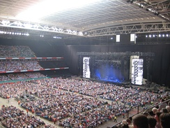 The set for Paul McCartney's Up and Coming Tour