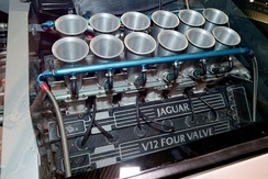 The Four-Valve Jaguar V12 engine in the XJ220 concept