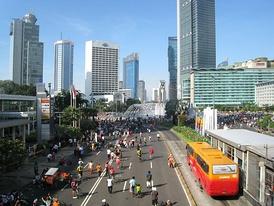 Улицы Джакарты во время ежегодного «дня без машин»