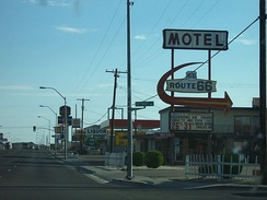 Motels along Andy Devine Avenue in Kingman in 2004