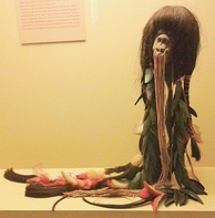 Pre-Hispanic shrunken head of the Shuars (Jivaroan peoples).