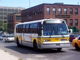 A TMC-built RTS owned by Massachusetts Bay Transit Authority.