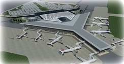 Islamabad International Airport has a capacity of handling 18 million passengers annually.