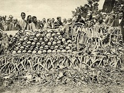 The remains of Serbs executed by Bulgarian soldiers in the Surdulica massacre during World War I. An estimated 2,000–3,000 Serbian men were killed in the town during the first months of the Bulgarian occupation of southern Serbia.[152]