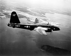 P2V-2 of VP-18 over NAS Jacksonville, 1953