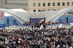 "Singing ""God Bless America"" at the Pentagon memorial dedication, September 11, 2008"