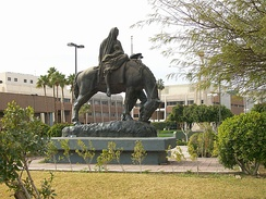 Los Pioneros monument in Mexicali dedicated to the pioneers that settled the region.