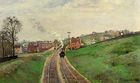 Camille Pissarro, Lordship Lane Station, East Dulwich, London, England, c. 1870. Impressionism.