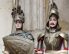 The marionettes used in the Opera dei Pupi