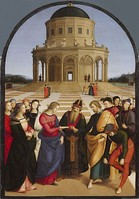 The Wedding of the Virgin, Raphael's most sophisticated altarpiece of this period (Pinacoteca di Brera)