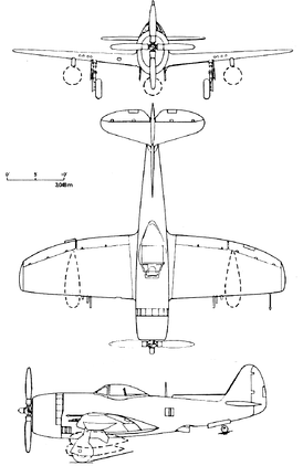 P-47N technical drawing