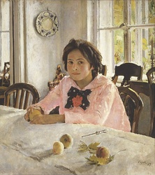 The girl with peaches (1887) was the painting that inaugurated Russian Impressionism.