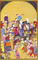 Miniature from Surname-i Vehbi showing the Mehteran, the music band of the Janissaries