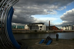 The Technium centre, one of the first of the new buildings built as part of the SA1 development scheme at Swansea Docks