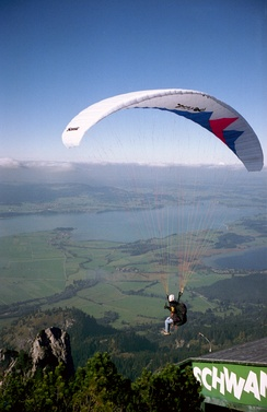 The CG of a paraglider is very low, making a strong contribution to dihedral effect