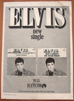1967 RCA Victor promo ad for the 45 single release of the song.