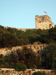 View of the northern face of the Moorish Castle's Tower of Homage