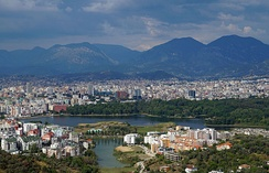 Tirana is the largest city of Albania by population and area.