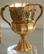 A chalice from the Treasure of Gourdon.