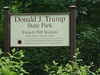 Entrance sign to Donald J. Trump State Park