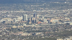 Downtown Tucson viewed from the Tucson Mountains