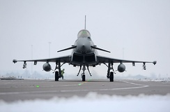Typhoon FGR4 aircraft, based at RAF Coningsby.