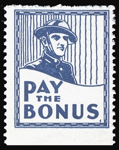 Cinderella stamp (US, 1932) supporting the Bonus Army