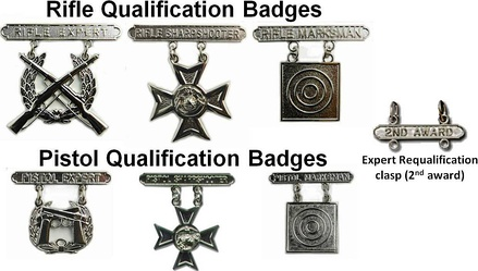 U.S. Marine Corps marksmanship qualification badges