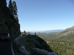 Descending eastbound into the Lake Tahoe Basin