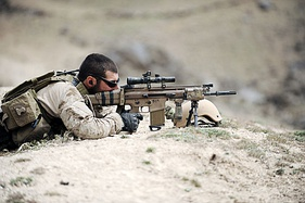 A US Navy SEAL in Afghanistan, 2010