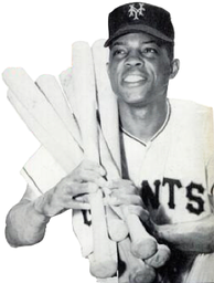 Hall of Famer Willie Mays with the Giants in 1954.