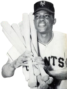 Willie Mays in 1954; 20-time All-Star,[33] 24 All-Star Games