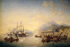 HMS Erebus and HMS Terror in New Zealand