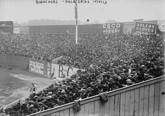 Crowds in Polo Grounds before Game 3 of the World Series