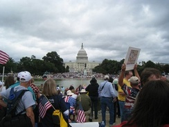 Protesters from the Tea Party movement, a right-wing populist formation in the United States