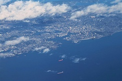 Aerial view of Victoria's inner harbour.