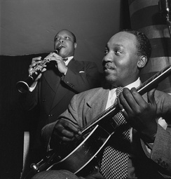 Al Casey and Eddie Barefield, Cafe Society, New York City, c. 1947. Photo by William P. Gottlieb