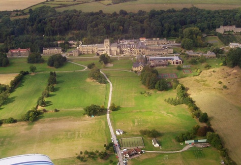 Ampleforth and the Valley from the air