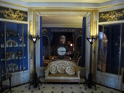 The boudoir of fashion designer Jeanne Lanvin (1922–25) now in the Museum of Decorative Arts, Paris