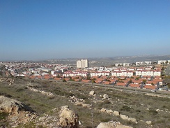 Ariel, one of the four biggest settlements in the West Bank