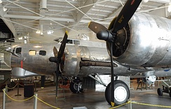 Nose of a B-17G being restored at the Mighty Eighth Air Force Museum