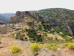 The ruins of Bagras Castle, viewed from the southeast